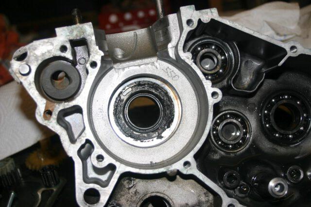Geschmolzene Dichtscheibe in einem Rotax 122