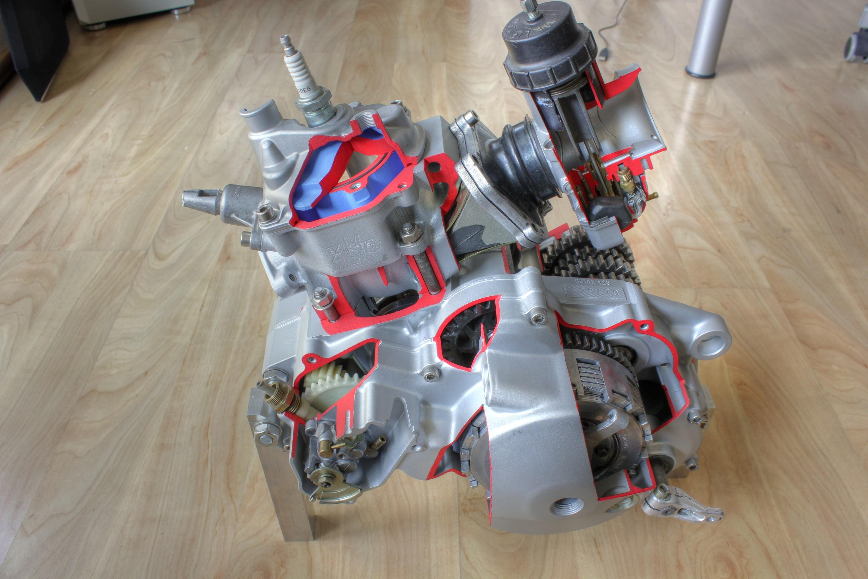 Schnittmodell Rotax 123