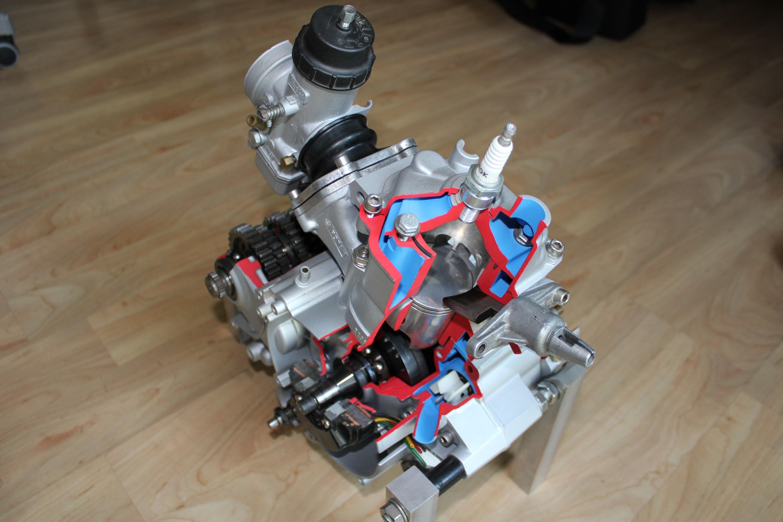 Schnittmodell Rotax 123 Zylinder