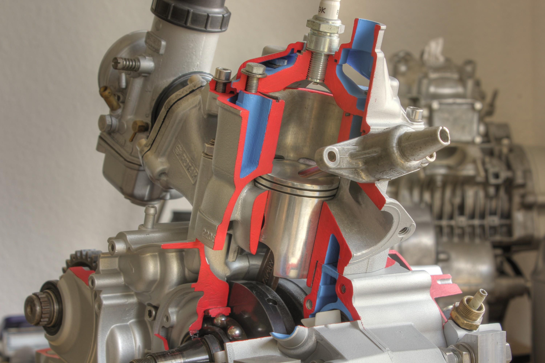 Schnittmodell Rotax 123 Brennraum