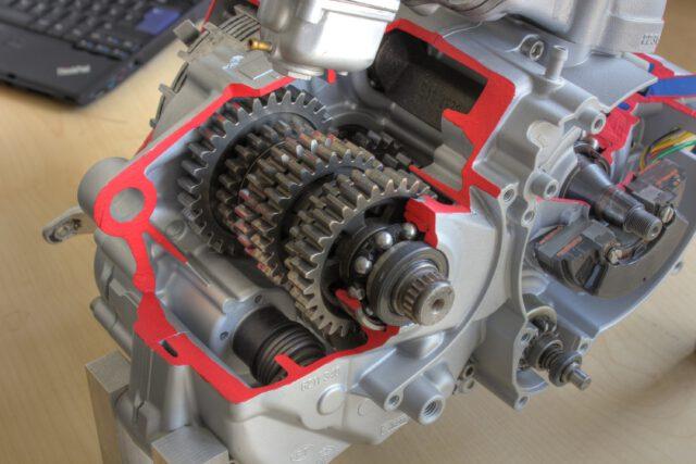 Schnittmodell Rotax 123 Getriebe
